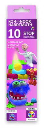 KOH-I-NOOR 131810 Stop Bacteria antibakteriális 10 db-os, színes gyurma készlet