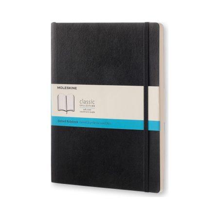 """MOLESKINE QP624 puhafedeles, fekete, pontozott notesz """"XL"""" (Bullet Journal)"""