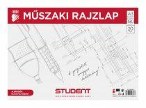 ICO Student műszaki rajzlap A/3 - 20 db