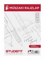 ICO Student műszaki rajzlap A/4 - 20 db