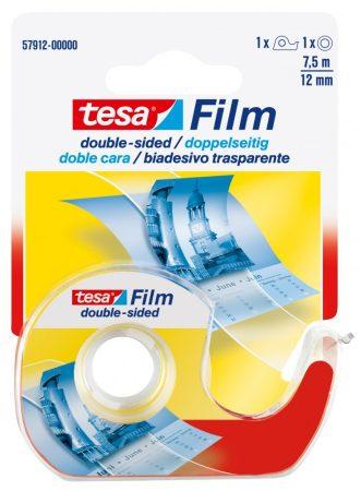 TESA 57912 Film kétoldalú ragasztószalag 7.5m x 12mm + eldobható tépő
