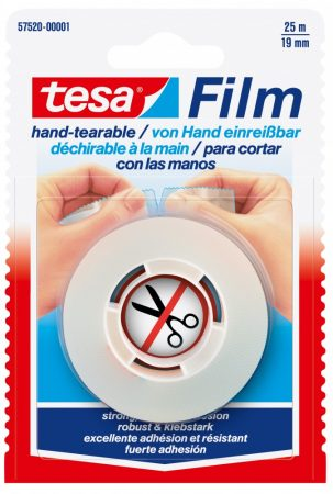 TESA 57520 Film kézzel téphető ragasztószalag 25m x 19mm