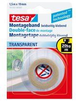 TESA 55743 Beltéri átlátszó montázsszalag 1.5m x 19mm