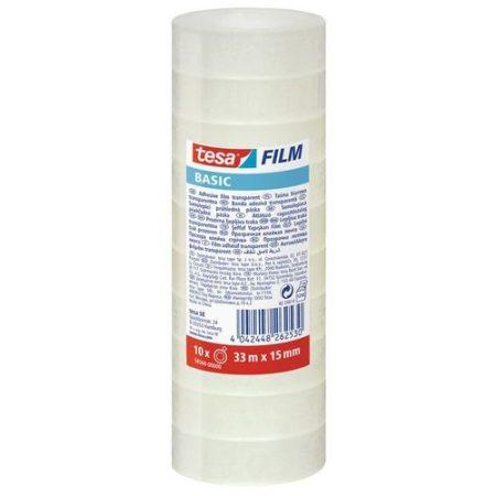 TESA Basic 58568 átlátszó ragasztószalag 10 db-os 33 m x 15 mm