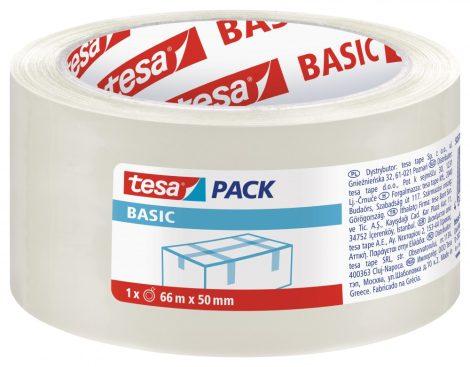 TESA 58570 Basic átlátszó csomagolószalag 66m x 50mm