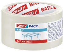 TESA 58572 Basic átlátszó csomagolószalag 50m x 48mm