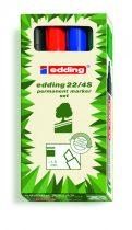 EDDING 22 Ecoline permanent marker 4 színű készlet - vágott