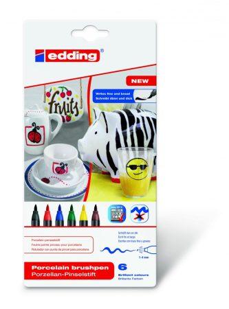 EDDING 4200/6 6 db-os porcelán ecsetirón készlet - family color