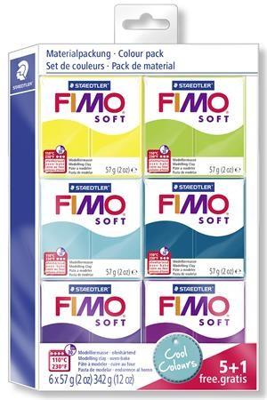 STAEDTLER FIMO Soft égethető gyurma készlet - hideg színek - 6 x 57 g
