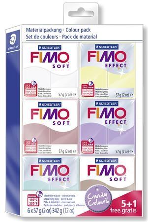 STAEDTLER FIMO Soft égethető gyurma készlet - cukorka színek - 6 x 57 g