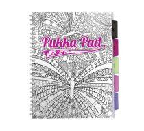PUKKA PAD Project book vonalas spirálfüzet színezhető mintákkal A/4