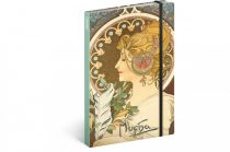 REALSYSTEM 5416-FE Feather Alphonse Mucha notesz