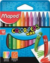 MAPED Color Peps Wax 12 db-os zsírkréta készlet