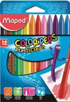 MAPED Color Peps PlastiClean 12 db-os zsírkréta