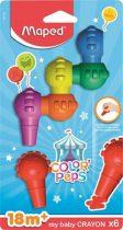 MAPED Color Peps Baby 6 db-os zsírkréta a legkisebbeknek