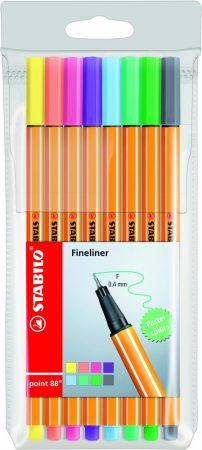 8 db-os STABILO point 88 pasztell színek tűfilc készlet