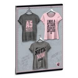 ARS UNA Shirt 1 vonalas füzet A/4