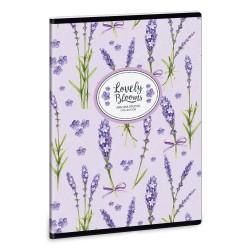 ARS UNA Lavender négyzethálós füzet A/4