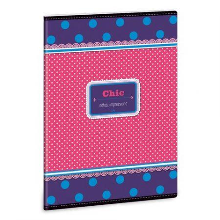ARS UNA Chic notes-blue vonalas füzet A/5