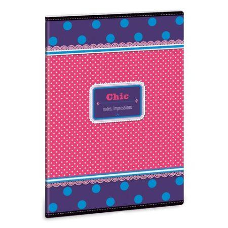 ARS UNA Chic notes-blue négyzethálós füzet A/5
