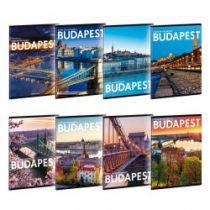 ARS UNA Cities-Budapest sima füzet A/4