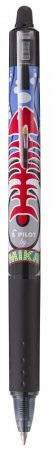 PILOT MIKA kollekciós Frixion Ball Clicker 07 radírozható toll - fekete
