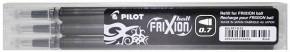 PILOT Frixion Ball 07 radírozható toll betét 3 db-os - FEKETE