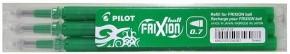 PILOT Frixion Ball 07 radírozható toll betét 3 db-os - ZÖLD