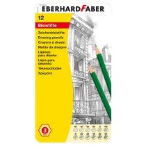 EBERHARD FABER 12 db-os grafit ceruza készlet fémdobozban