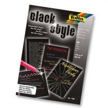 FOLIA jegyzettömb 20 db 100 g-os fekete papírral A/5 méretben