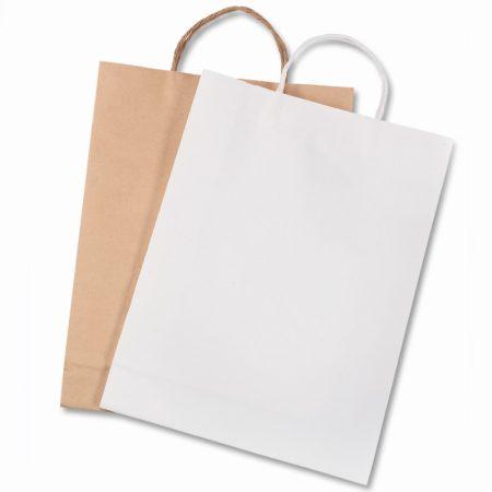 FOLIA natúr színű, papír ajándéktasak 18x8x21 cm