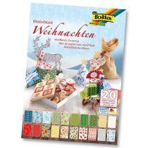 """FOLIA """"Christmas"""" karácsonyi dekorációs papírkészlet 20 ív"""