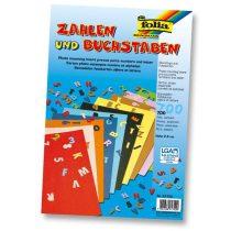 FOLIA fotókarton betűk és számok A/4-es színes íveken 700 db 2,5 cm