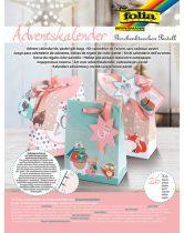 FOLIA Pastell Adventi naptár készítő 26 részes készlet