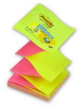 3M POST-IT Z-notes öntapadó sárga-rózsaszín jegyzettömb, 76 x 76 mm, 100 lap