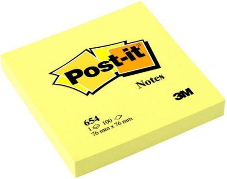 3M POST-IT öntapadó papír jegyzettömb 100 lap, 76x76 mm, sárga