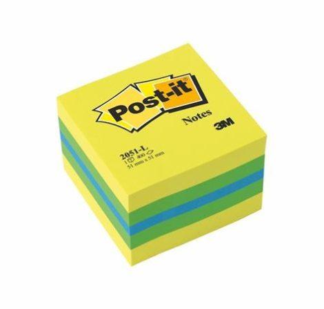 3M POST-IT papír öntapadó jegyzettömb 400 lap, 51x51 mm, lime