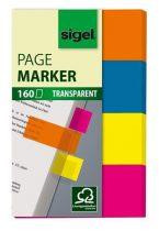 SIGEL 614 műanyag jelölőcímke, 4x40 lap, 20x50mm