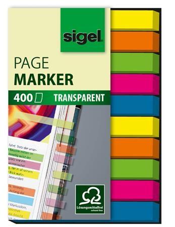 SIGEL Micro műanyag jelölőcímke, 10x40 lap, 6x50mm