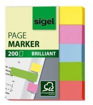 SIGEL Brilliant Mini papír jelölőcímke, 5x40 lap, 12x50mm