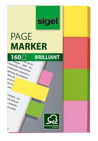 SIGEL Multicolor papír jelölőcímke, 4x40 lap, 20x50mm