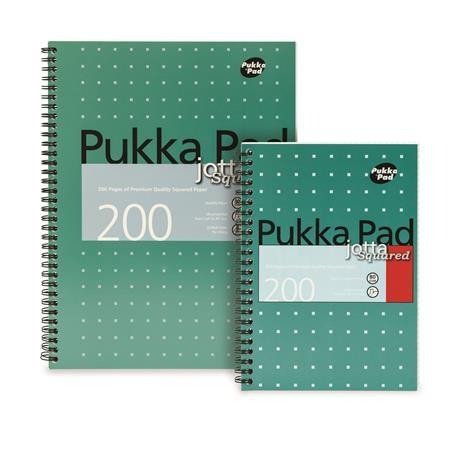 PUKKA PAD Metallic Jotta négyzethálós spirálfüzet A/5