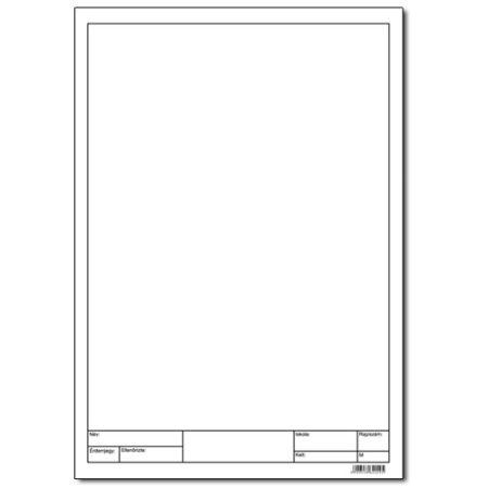 A/4 famentes, keretezett műszaki rajzlap 10 db/csomag