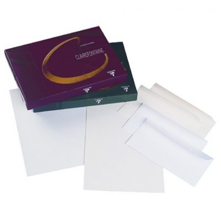 CLAIREFONTAINE fehér színű, finoman bordázott, vízjeles, A/4-es méretű levélpapír