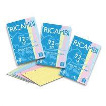 PIGNA Ricambi 72 lapos, színes, vonalas gyűrűskönyv betét - A/4