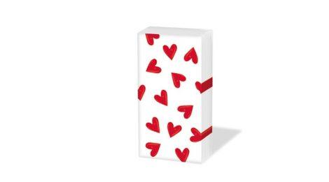 PPD SNIFF Heartbreaker white papírzsebkendő, 10 db