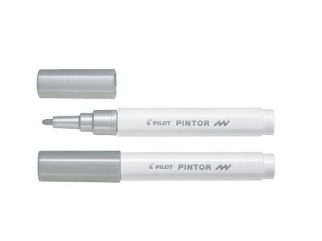 PILOT PINTOR Vízbázisú pigmenttintás marker - FINE - Ezüst