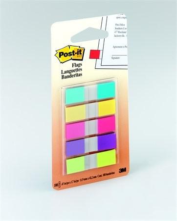 3M POST-IT műanyag jelölőcímke 5 x 20 lap, 12 x 43 mm